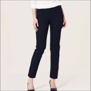 LIKE NEW Ann Taylor Wool Blend Ankle Pants Navy 4